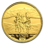 Switzerland 1986-1989 1/4 Unze 999.9 Gold