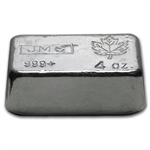 4 oz Johnson Matthey Silver Bar (Poured, Canada) .999 Fine