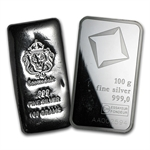 100 gram Silver Bar (Secondary Market) .999 Fine