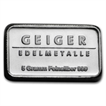 5 gram (Secondary Market) Silver Bar .999 Fine