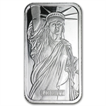 1 oz Johnson Matthey Silver Bar (Statue of Liberty/MTB) .999 Fine
