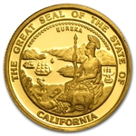 1/2 oz Great Seal of California Gold Round .9999 Fine