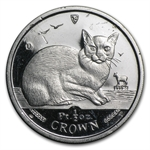 1/2 oz Isle of Man Platinum Cat (Abrasions)