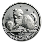 1/25 oz Isle of Man Platinum Persian Cat (Abrasions)