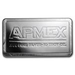 10 oz APMEX Silver Bar .999 Fine (IRA Approved)