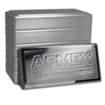 100 oz APMEX Silver Bar .999 Fine (Stackable, IRA approved)