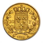 France 1816-1824 Gold 20 Francs (Louis XVIII) Extra Fine
