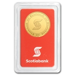 1/4 oz Scotiabank Gold Round .9999 Fine