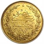 Turkey 100 Kurush Gold Average Circulated Random Dates