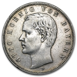 Bavaria 1904 5 Mark Silver VF/EF