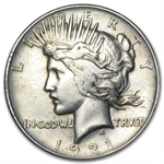 1921 Peace Dollar - VG - VF - High Relief
