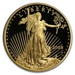 2008-W 1/4 oz Proof Gold American Eagle (w/Box & CoA)