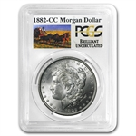 1882-CC Brilliant Uncirculated PCGS Stage Coach Silver Dollars