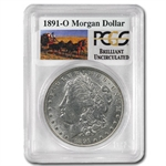 1891-O Brilliant Uncirculated PCGS Stage Coach Silver Dollars