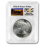 1926-D Brilliant Uncirculated PCGS Stage Coach Silver Dollars