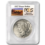 1927 Brilliant Uncirculated PCGS Stage Coach Silver Dollars