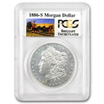 1886-S Brilliant Uncirculated PCGS Stage Coach Silver Dollars