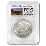 1898-S Brilliant Uncirculated PCGS Stage Coach Silver Dollars