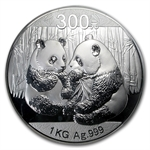 2009 (Kilo Proof) Silver Chinese Panda (W/Box & Coa)