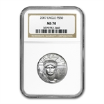 2007 1/2 oz Platinum American Eagle MS-70 NGC
