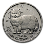 1/10 oz Isle of Man Platinum Persian Cat (Scruffy)