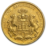 Hamburg (Germany) 20 Mark Gold Avg Circ Random Dates