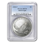 2008-P Bald Eagle $1 Silver Commemorative MS-70 PCGS