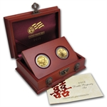 8-8-2008 Gold Double Prosperity 2 Coin Set (w/Box & CoA)