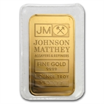 1 oz Johnson Matthey Gold Bar (Logo Back, No Assay) .9999 Fine