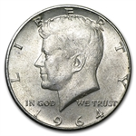 $10 1964 Kennedy Halves - 90% Silver 20-Coin Roll (Avg. Circ.)