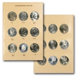 Complete Eisenhower Dollar Set In - Dansco Album - 32 Coins