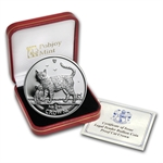 Isle of Man 2002 1 Crown Silver Proof Bengal Cats