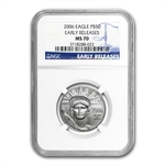 2006 4-Coin Platinum American Eagle Set MS-70 NGC (ER)