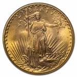 1908 $20 St. Gaudens Gold - No Motto - MS-66 NGC