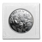 1995 1 oz Silver Chinese Panda - (Sealed) - Large Date - 9 Leaf