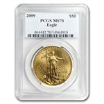2009 1 oz Gold American Eagle MS-70 PCGS