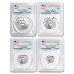 2007-W 4-Coin Burnished Platinum Eagle Set MS-69 PCGS (FS)