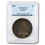1803 Draped Bust Dollar Fine-15 PCGS Small 3