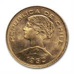 Chile Gold 100 Pesos (Avg Circ) Random Dates AGW .5886