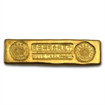 6.01 oz 5 Tael Chinese Biscuit Gold Bar .9999 Fine
