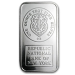 1 oz Johnson Matthey Silver Bar (Republic National Bank of NY)