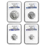 2007 4-Coin Platinum Eagle Set MS-70 NGC Early Releases