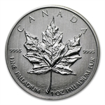 2009 1 oz Canadian Palladium Maple Leaf