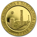 Spain 20,000 Pesetas Gold Unc/Proof Olympics Issue