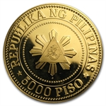 Philippines 1977 5000 Piso Gold Proof