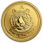 2010 1/4 oz Gold Lunar Year of the Tiger (Series II)