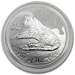 2010 2 oz Silver Australian Year of the Tiger Coin (Series II)