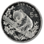 1995 - (1/2 oz) Silver Panda - Light Abrasions