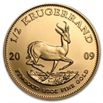 2009 1/2 oz Gold South African Krugerrand BU