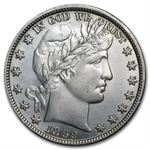 1899-P Almost Uncirculated - Barber Half Dollar